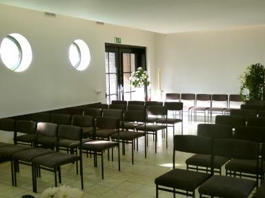 Innenansicht Heckmann Trauerkapelle